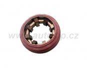 Gumový kroužek rudý s distanční podložkou pro výfukové trubky - 1316131 A