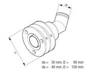 Prostup výfukového potrubí přes stěnu ( loď )   40 mm - 221050894400